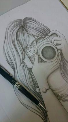 Girl Drawing Sketches, Girly Drawings, Princess Drawings, Art Drawings Sketches Simple, Sketch Painting, Pencil Art Drawings, Art Drawings Beautiful, Drawings Of Friends, Sketching