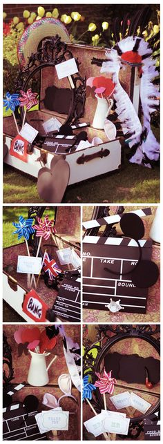 what a cute way to display your photo props!  Thanks to Rebecca Wedding Photography