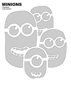 Minions pumpkin cutout patterns