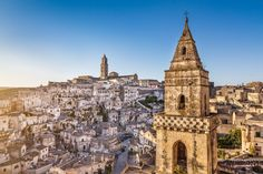 Ancient town of Matera – Matera is an ancient town in Basilicata, and is famous for its extensive cave-dwelling districts, theSassi di Matera, which have been inhabited for centuries.