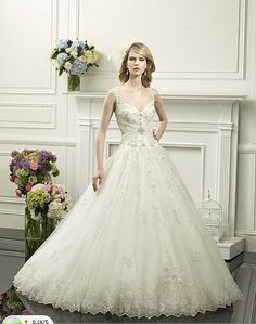 40093db33f3f Click to Buy    Hot romantic ball gown beautiful sweetheart embellished  straps ruched