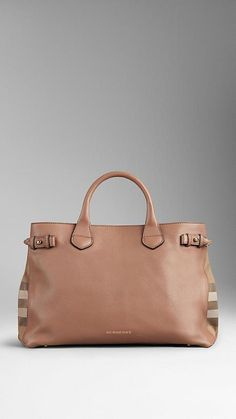 burberryTHE MEDIUM BANNER IN LEATHER AND HOUSE CHECK 1 932c1f98b3da6
