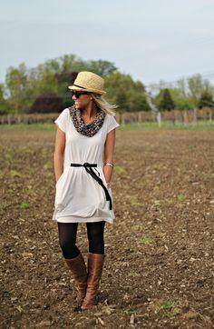Styling a Tee Shirt Dress   Pop of StylePop of Style