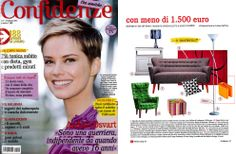 The magazine rack BUK #design by Rodolfo Bonetto is published by Italian Lifestyle magazine Confidenze in February 2014 issue.