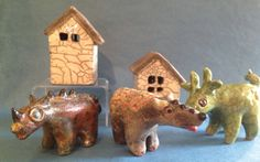 Take a look at these fun one of a kind raku Kritters by Washington artist Ruth Apter.