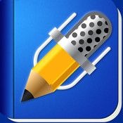 My first note taking app and still one of the best for only $.99.  Pick your paper, pen, color, font add audio, email, send to dropbox and more.
