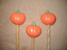 1 Dog Safe Puppy Chocolate Gourmet Rawhide halloween pumpkin Lollipop Lollipops