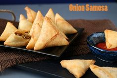 Mini Onion Samosa is a quick and delicious evening snack with a spicy caramelized onion filled and a crispy outer made from spring roll sheets.