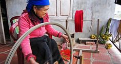 Creating textiles in Mai Chau. North Vietnam, Trekking, Wander, Traveling, Textiles, Trips, Travel, Hiking, Textile Art