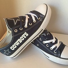 296944608c2c Dallas Cowboys Converse Sneakers Dallas Cowboys Boots