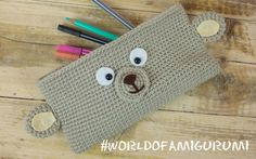 Astuccio Orsetto Amigurumi   How to crochet a teddy bear pencil case