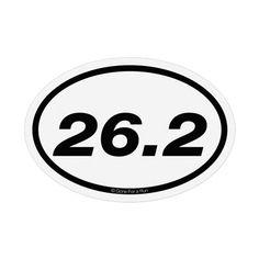 26.2 Marathon Mini Mini Car Magnet - White