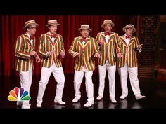 "Kevin Spacey And Jimmy Fallon's Barbershop Quartet Cover Of ""Talk Dirty To Me"" via Buzzfeed."