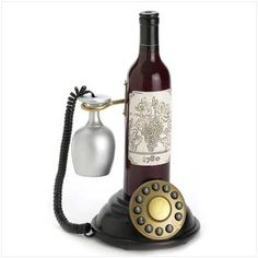 This is needed in a wine bar - wine bottle phone