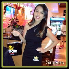 Sapporo model Lin spoiled all the customers at the Wala Wala Restaurant in Hacienda with tons of Sapporo giveaways.   #sinsationalevents #sapporo  #promomodel