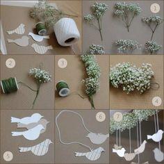 Guirlanda de Flores com Passarinhos [ DIY ]   A Noiva SUD