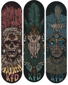 KFD - Zulu Zombies by One Horse Town Illustration Studio in Showcase of Cool and Unusual Skateboard Designs Skateboard Deck Art, Skateboard Design, Graffiti, Cool Skateboards, Complete Skateboards, O Tattoo, Skate Art, Skate Decks, Deck Design