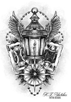 Lantern Tattoo Design by KLsketches on DeviantArt