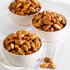 Quick Snacks: Spice Roasted Almonds - Paleo Friendly - Easy to make, I would cook them a little longer for more crunch.