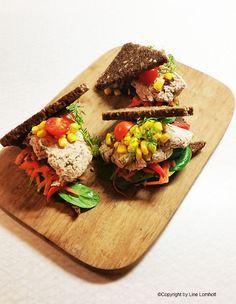 Rugbrødssandwich med tunmousse