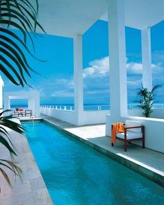 Penthouse pool at Shore Club Miami Beach Florida