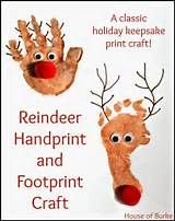 reindeer crafts using footprints - Yahoo Image Search Results