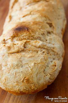 Receita de Pão Italiano - O Legítimo. Clique na imagem para ver a receita no Manga com Pimenta. No Salt Recipes, Bread Recipes, Cooking Recipes, Cooking Bread, Bread Baking, Lowcarb Pizza, Bread Dough Recipe, Rustic Bread, Pan Bread