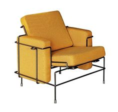 Magis Traffic Armchair Sepia brown/ Yellow fabric