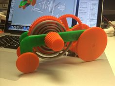 PLA Spring Motor, Rolling Chassis by gzumwalt - Thingiverse