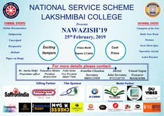 We are graceful to be associated with National Service Scheme- Lakshmibai College at NAWAZISH Collaboration, Documentaries, Interview, University, College, Events, Colleges, Community College