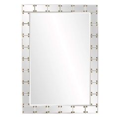 Howard Elliott Remington Studded Mirror 39H x 27W x 1D - 29006