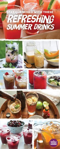 8 refreshing drinks for summer... Each one the perfect base for a delicious cocktail! #summer #cocktail #recipe