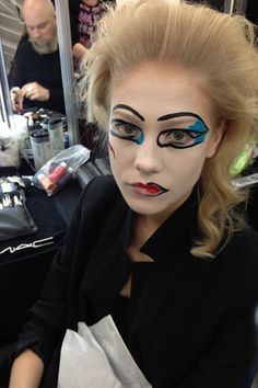 Don't try this at home, kids! LFW Beauty: Vivienne Westwood Make-Up Autumn 2013-14 (Vogue.com UK)