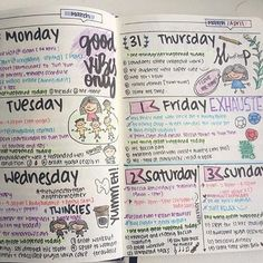 Cute way to do daily journal section of planner if I try to get in that habit again