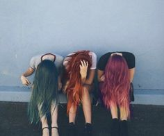 best color haired friends squad ♡