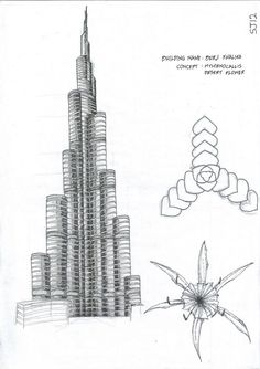 The design of Burj Khalifa was inspired by the desert flower Hymenocallis. Architects also incorporated patterns from Islamic architecture.