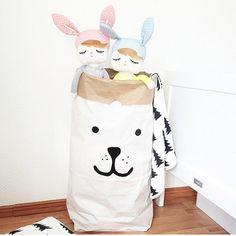 Bear stoccaggio di sacchetto carta di giocattoli di Tellkiddo