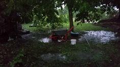 A Tiny Farm - big rain and storm Tiny Farm, Wheelbarrow, Weed, Outdoor Power Equipment, Garden Tools, Public, Rain, Rain Fall, Waterfall