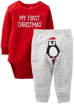 Carter 39 S Uni Baby Christmas 2 Piece Set First Newborn Christmas aa6ea9ac9