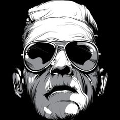Frankenshades is a T Shirt designed by BlackFiberGraphics to illustrate your life and is available at Design By Humans