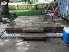 How I Made a Pallet Deck Pallet Terraces & Pallet Patios