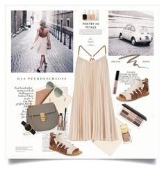 """""""Poetry in petals"""" by amaryllis ❤ liked on Polyvore featuring Dempsey & Carroll, BCBGMAXAZRIA, Chloé, Koolaburra, Ray-Ban, H&M, Benefit, Urban Decay, Marc by Marc Jacobs and Essie"""