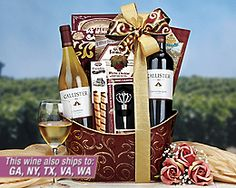 $39.95 Great Thanksgiving Hostess Gift - 2 bottles of wine and treats!