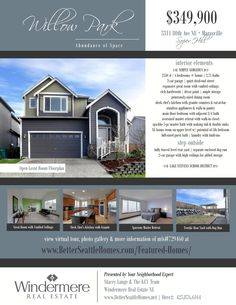 REAL ESTATE Open House FLYER Template Microsoft Publisher Template - Microsoft publisher real estate flyer templates