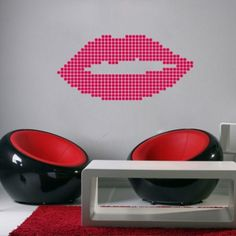 Dot Lips Sticker | Moon Wall Stickers