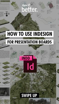 Learn how to use indesign for your presentation boards here!