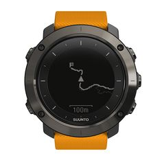 GPS outdoor watch with versatile navigation functions for hiking and trekking
