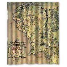 New The Hobbit Desolation of Smaug Map Custom Shower Curtain 66x72 60x72 | eBay