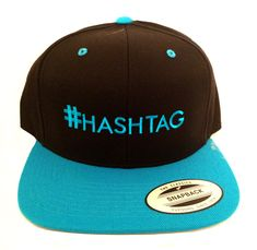 We can embroider just about anything on a hat. What's your hashtag? Embroidered Baseball Caps, Dad Caps, Custom Embroidery, Snapback, Baseball Hats, Branding, Classic, Baseball Caps, Classical Music