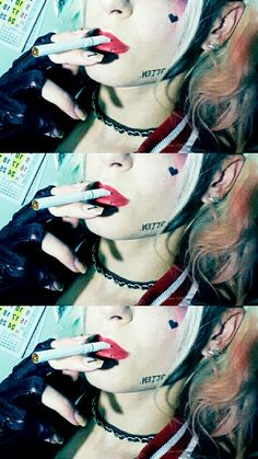 Harley Quinn cosplay cigarette